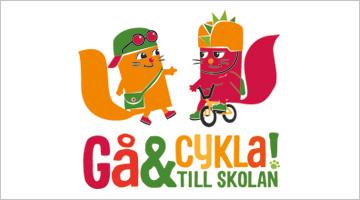 Logotyp för Gå och cykla till skolan